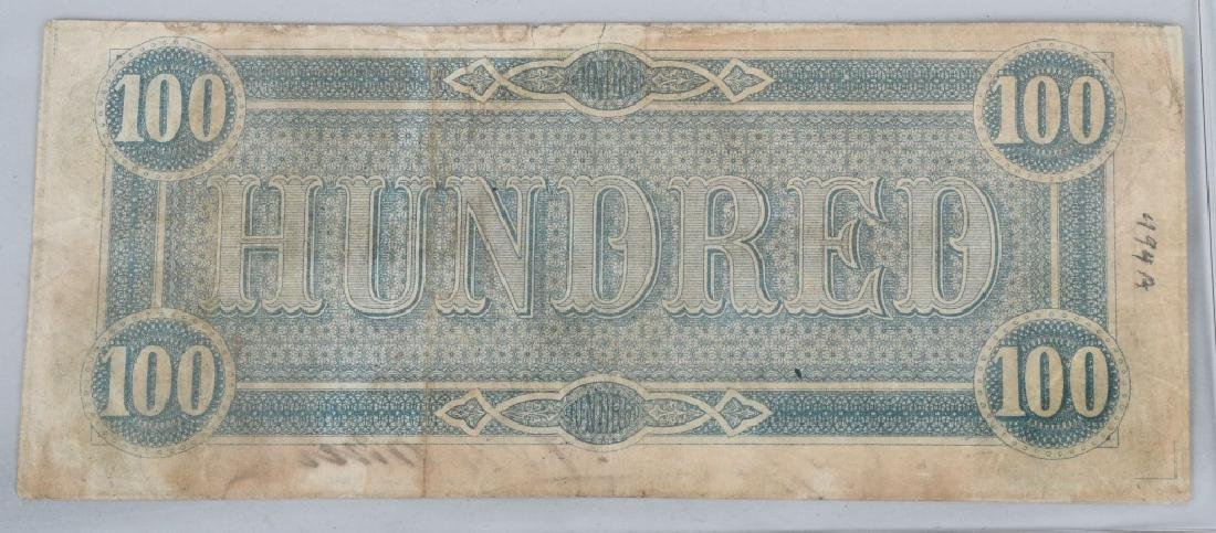 2-CONFEDERATE $100.00 NOTES. 1862 & 1864 ISSUE - 3