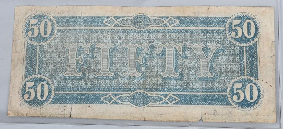 3-CONFEDERATE $50.00 NOTES. 1861 & 2-1864 ISSUE - 6