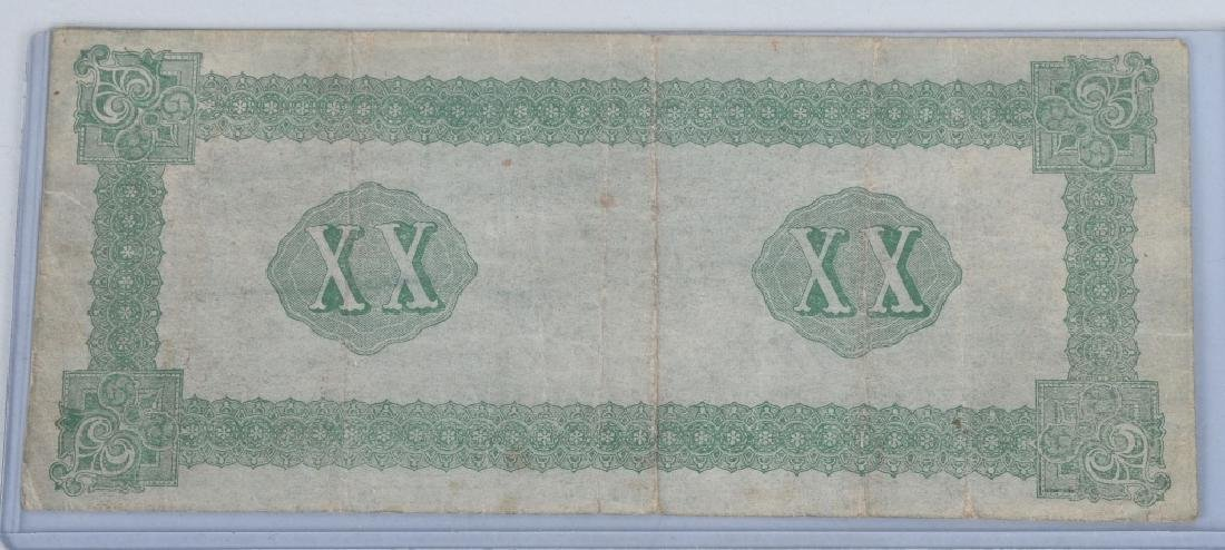 4-CONFEDERATE $20.00 NOTES, 1861 ISSUE - 5