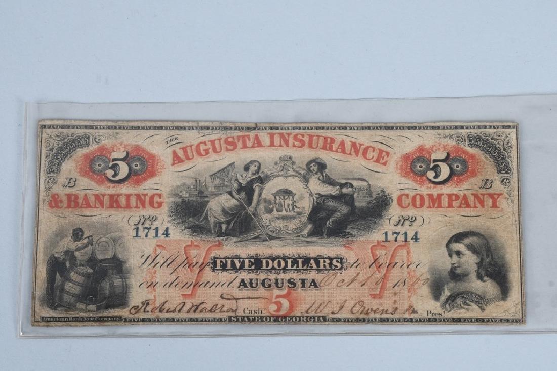 3-CIVIL WAR ERA GEORGIA STATE NOTES $100 & 2-$5 - 4