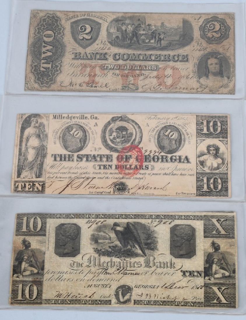 3-CIVIL WAR ERA GEORGIA STATE NOTES $2.00 & 2-$10