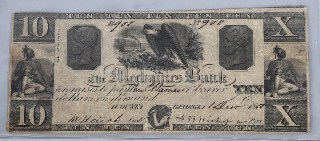 3-CIVIL WAR ERA GEORGIA STATE NOTES $2.00 & 2-$10 - 6
