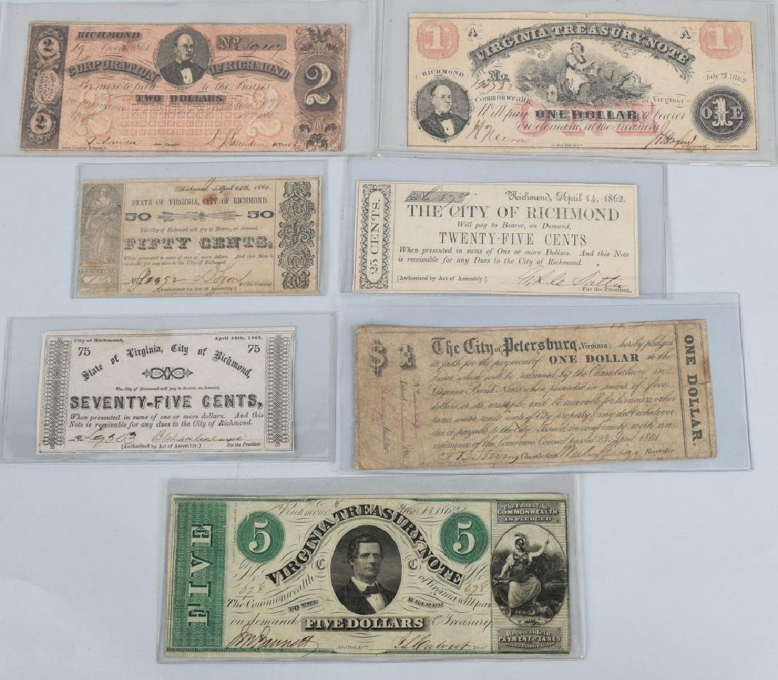 7-CIVIL WAR ERA VIRGINIA STATE NOTES