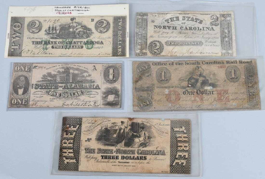 5-CONFEDERATE STATE ISSUE NOTES. 1861-1863