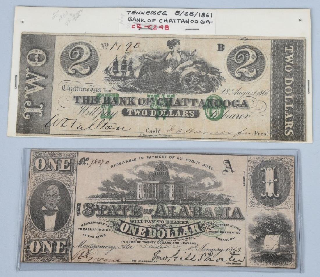 5-CONFEDERATE STATE ISSUE NOTES. 1861-1863 - 2