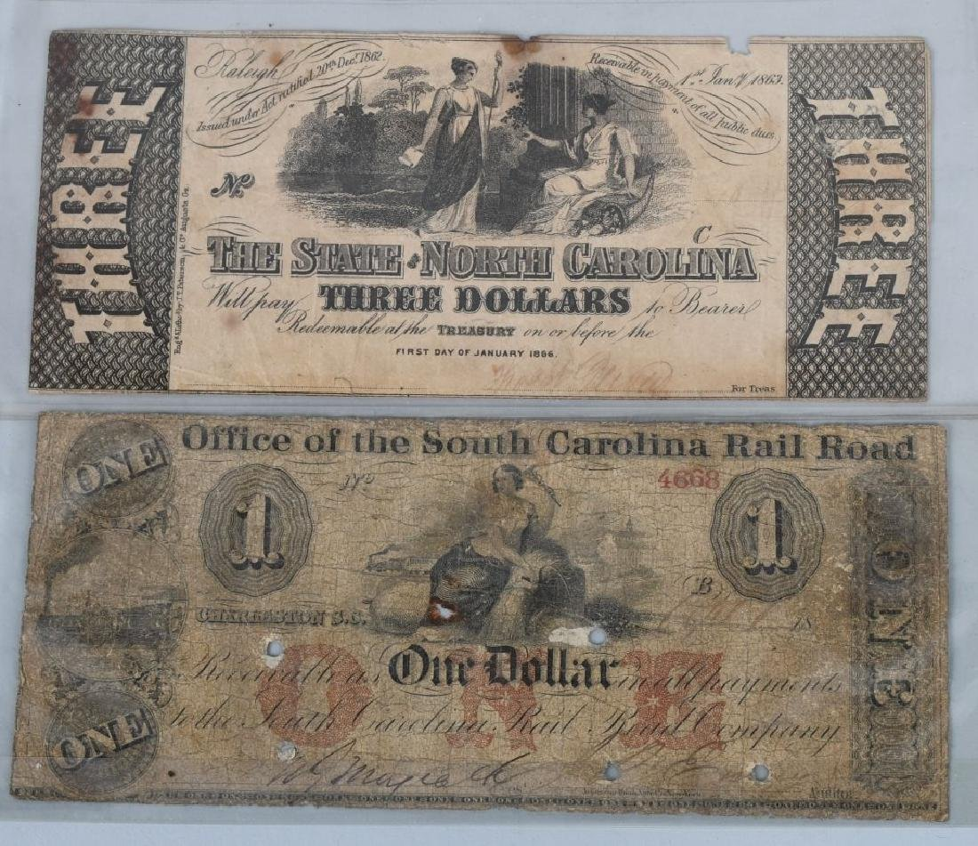 5-CONFEDERATE STATE ISSUE NOTES. 1861-1863 - 3