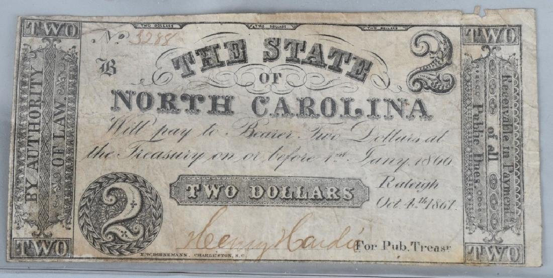 5-CONFEDERATE STATE ISSUE NOTES. 1861-1863 - 5