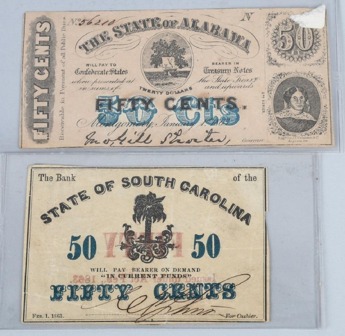 4-CONFEDERATE STATE ISSUE FRACTIONAL NOTES - 3