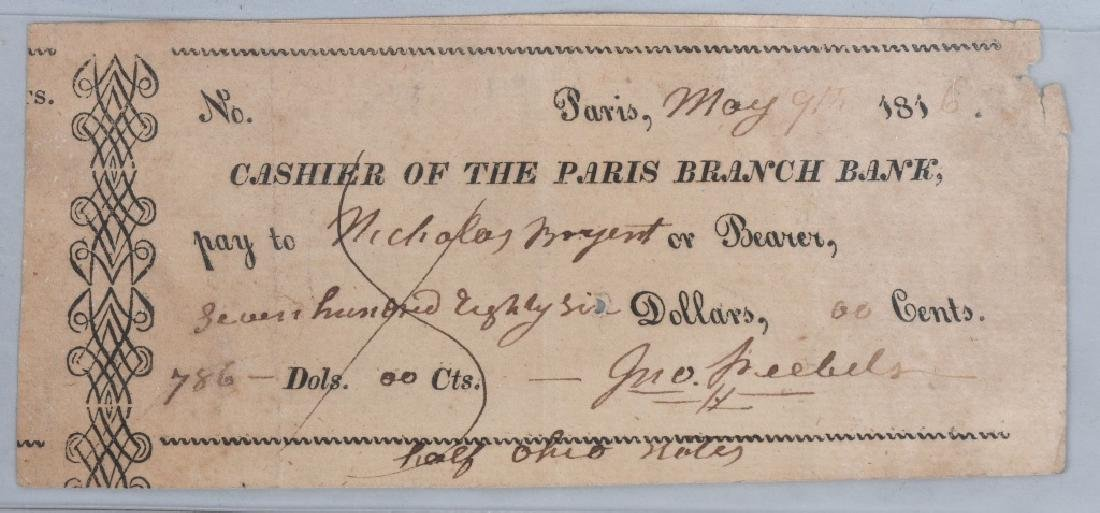 4-19th CENTURY BANK CHECKS 1814-1862 - 3
