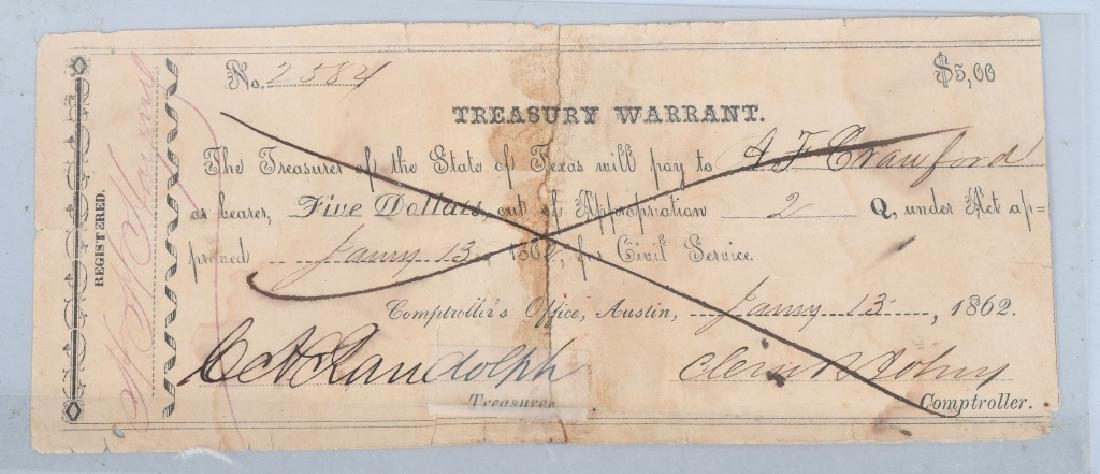 4-19th CENTURY BANK CHECKS 1814-1862 - 4