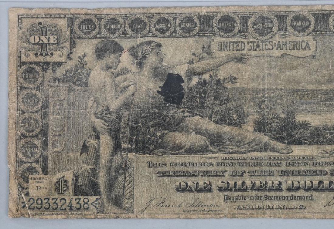1896 SILVER CERTIFICATE $1.00, - 2