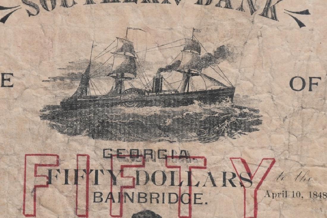 2-ANTEBELLUM $50.00 SOUTHERN BANK NOTES, 1848-49 - 4