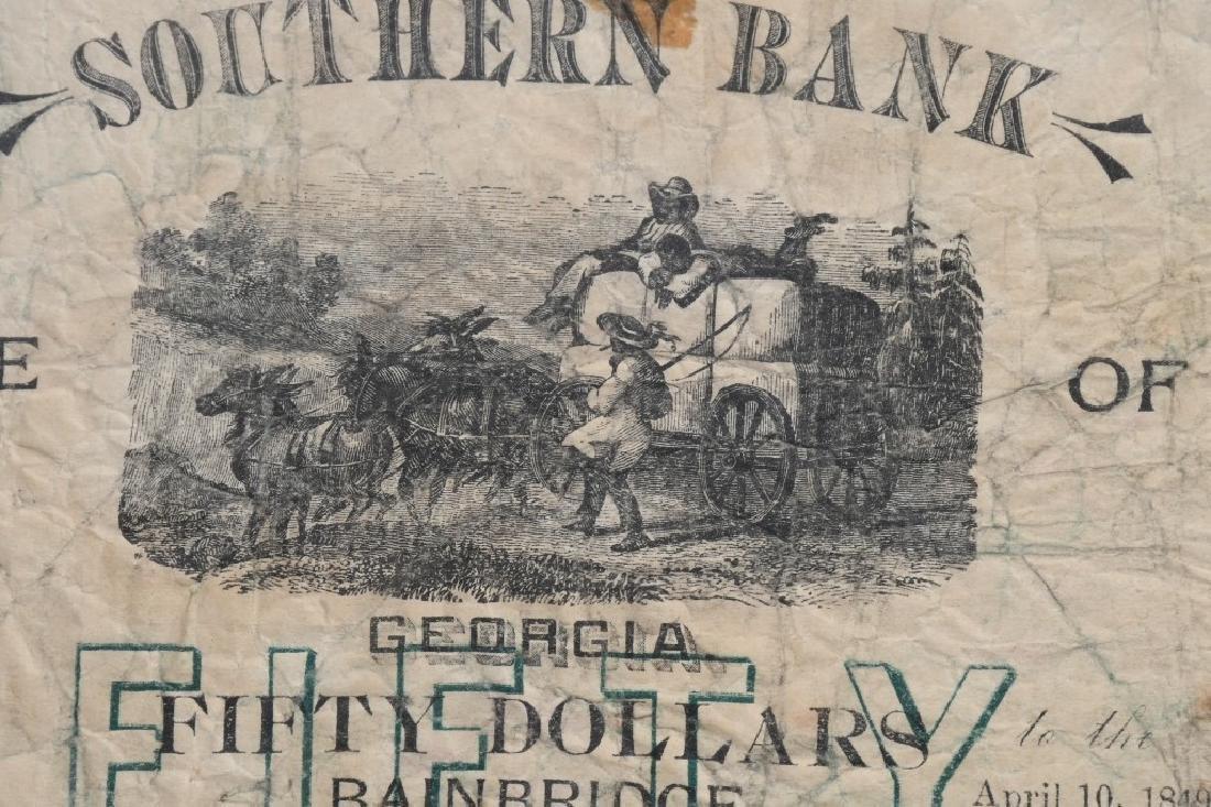 2-ANTEBELLUM $50.00 SOUTHERN BANK NOTES, 1848-49 - 5