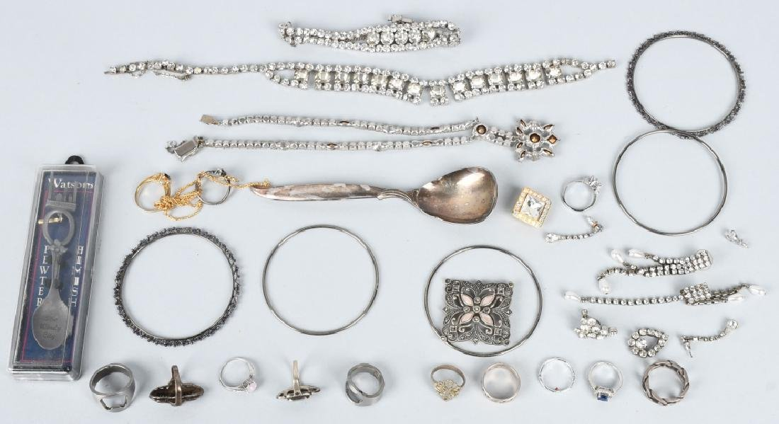 COSTUME JEWELRY, SOME SILVER & MORE