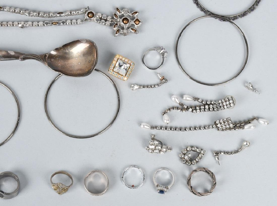 COSTUME JEWELRY, SOME SILVER & MORE - 4