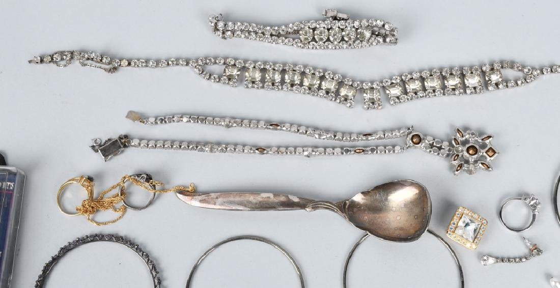 COSTUME JEWELRY, SOME SILVER & MORE - 5