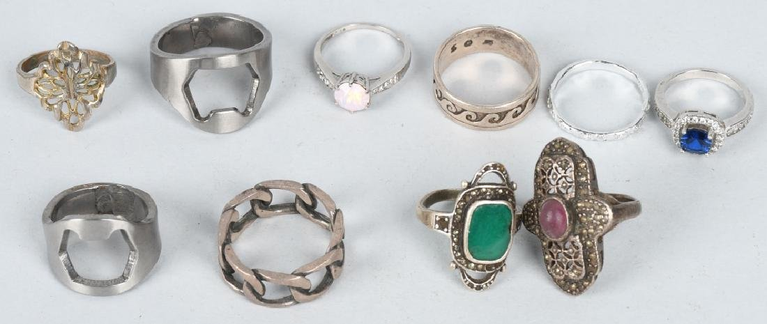 COSTUME JEWELRY, SOME SILVER & MORE - 6