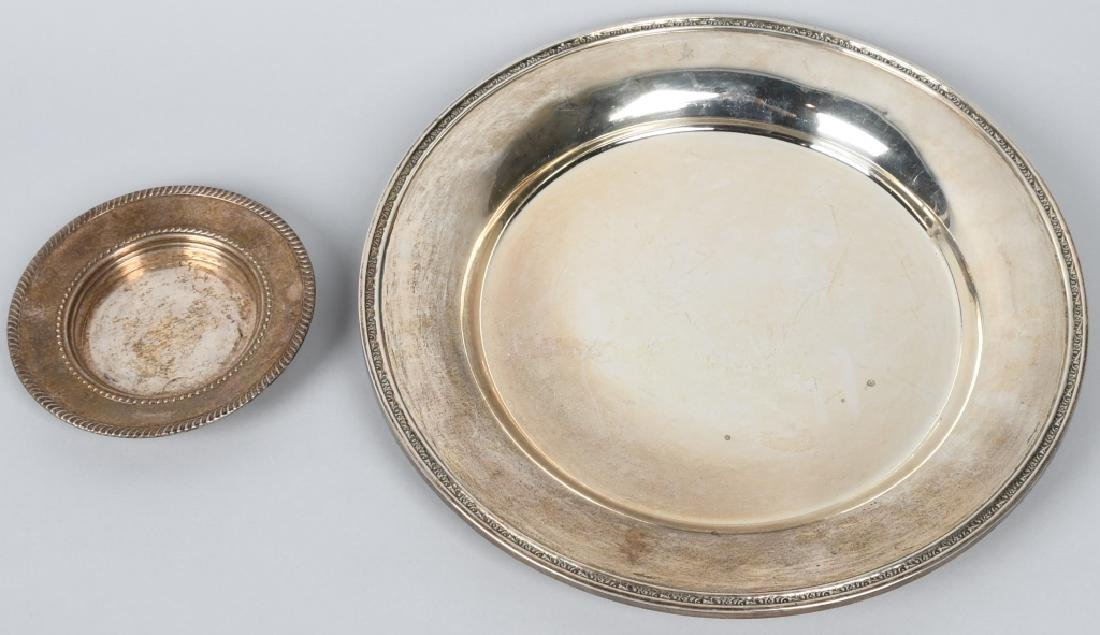 2-STERLING SILVER PLATES, 24.6 OZ