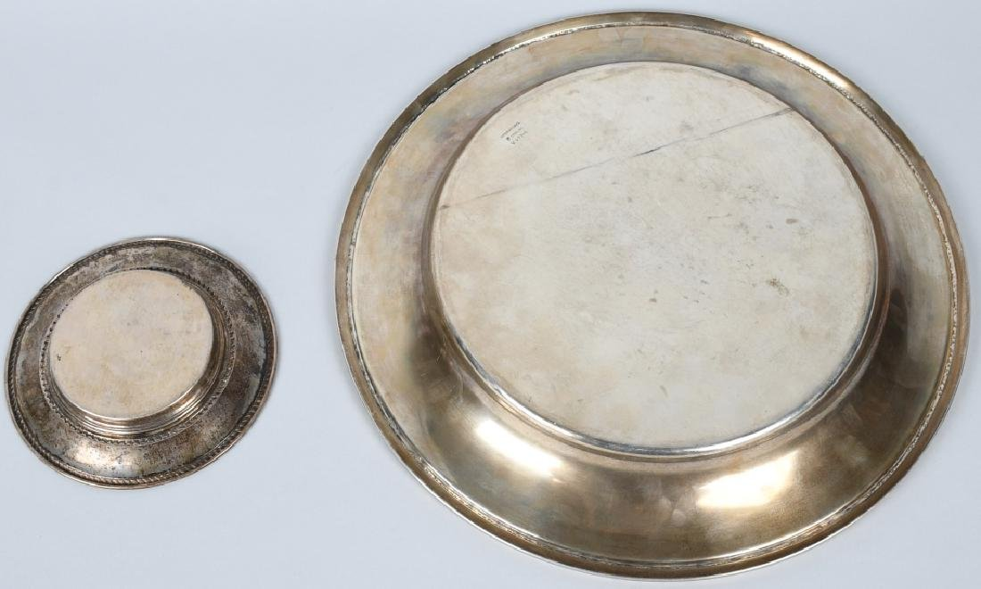 2-STERLING SILVER PLATES, 24.6 OZ - 6