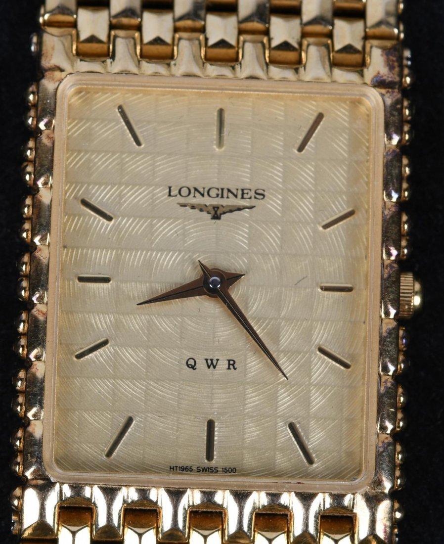 LONGINES QWR 14k GOLD PLATED MENS DRESS WATCH MIB - 5