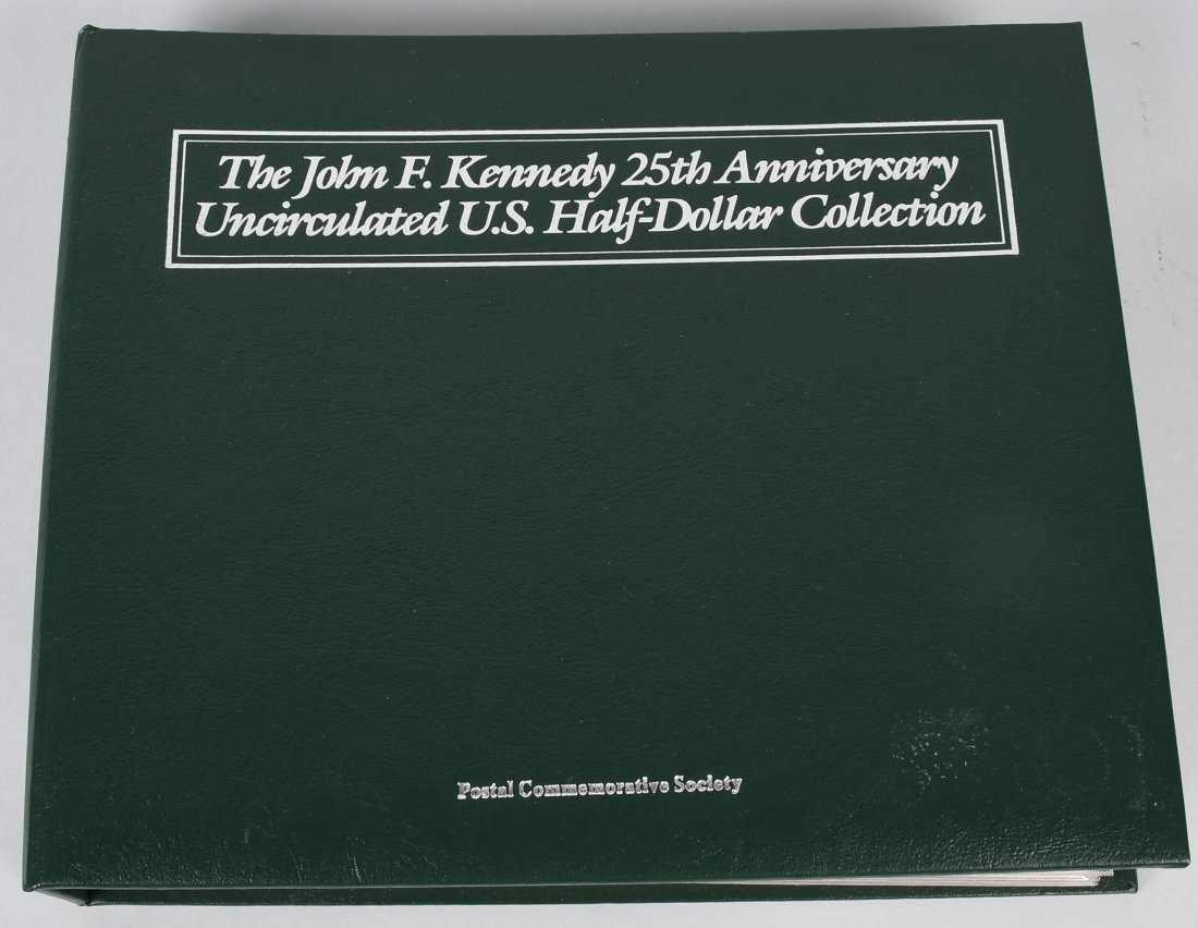 JF KENNEDY 25th ANN UNC US HALF DOLLAR COLLECTION