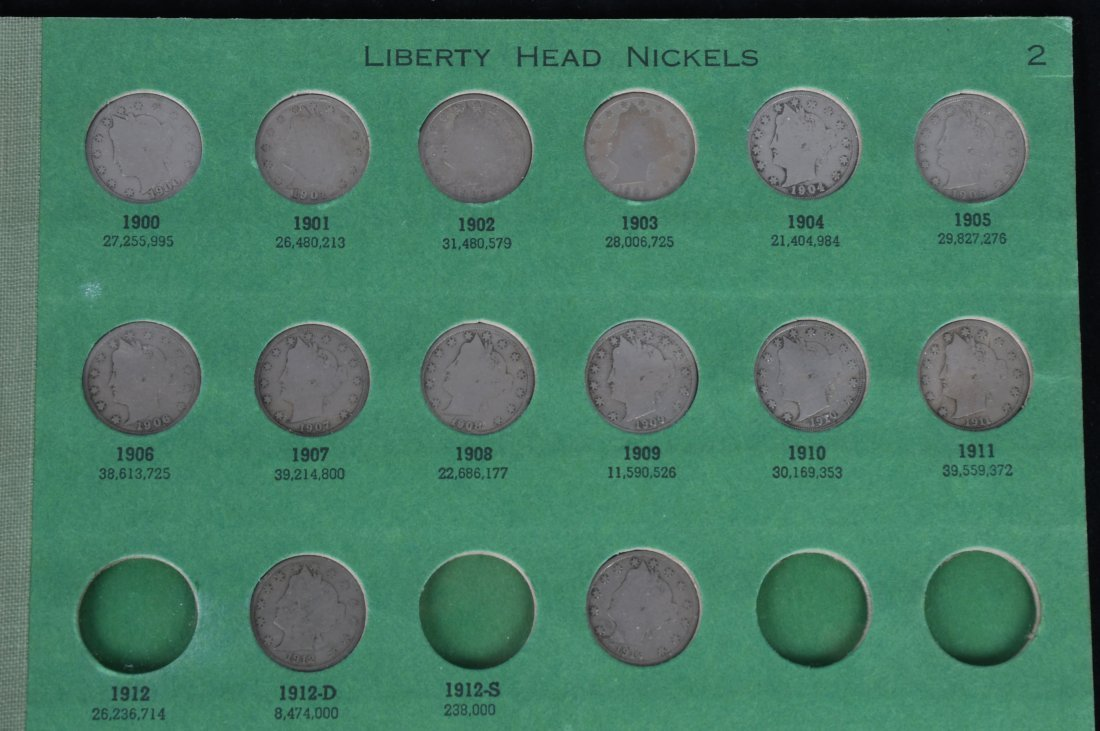 41 LIBERTY HEAD NICKELS w/ 2 ALBUMS - 5
