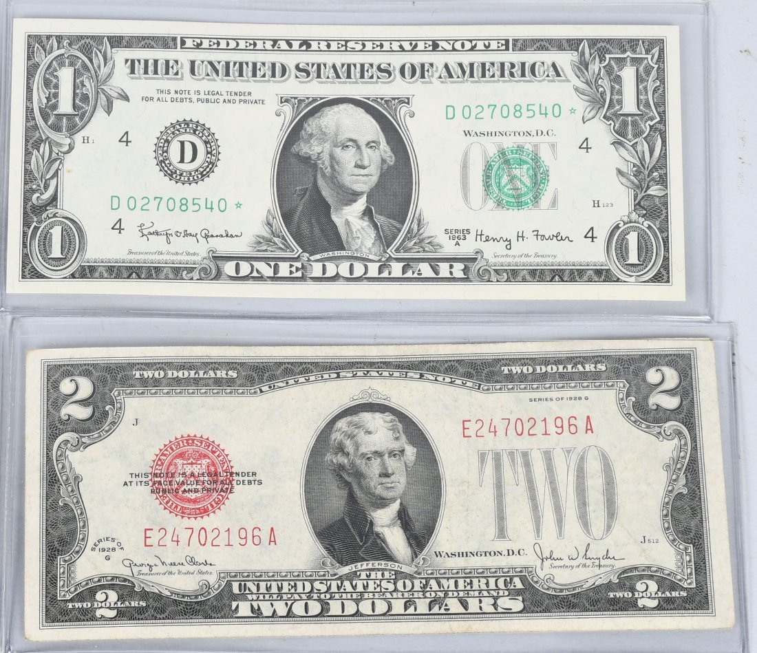 RED SEALS, STAR NOTES, & LOW SERIAL # LOT - 2