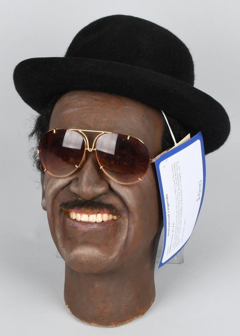 SAMMY DAVIS JR BOWLER HAT & WAX HEAD w/ PROV.