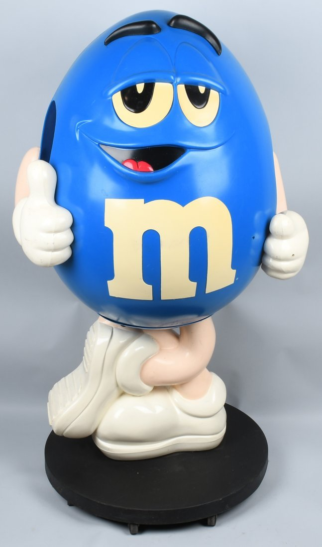 """54\"""" M&M BLUE CHARACTER CANDY STORE DISPLAY"""