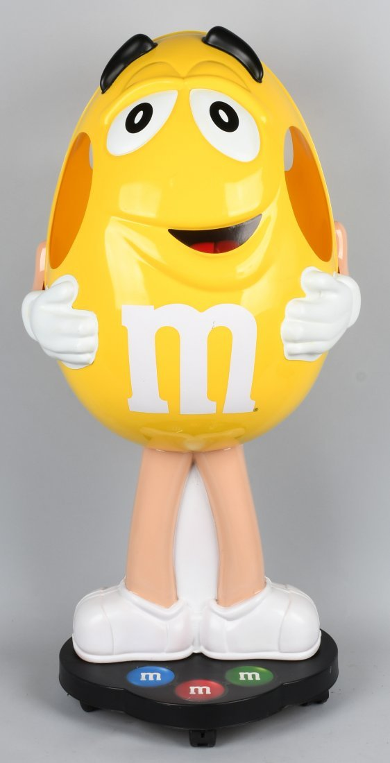 """40\"""" M&M YELLOW CHARACTER CANDY STORE DISPLAY"""