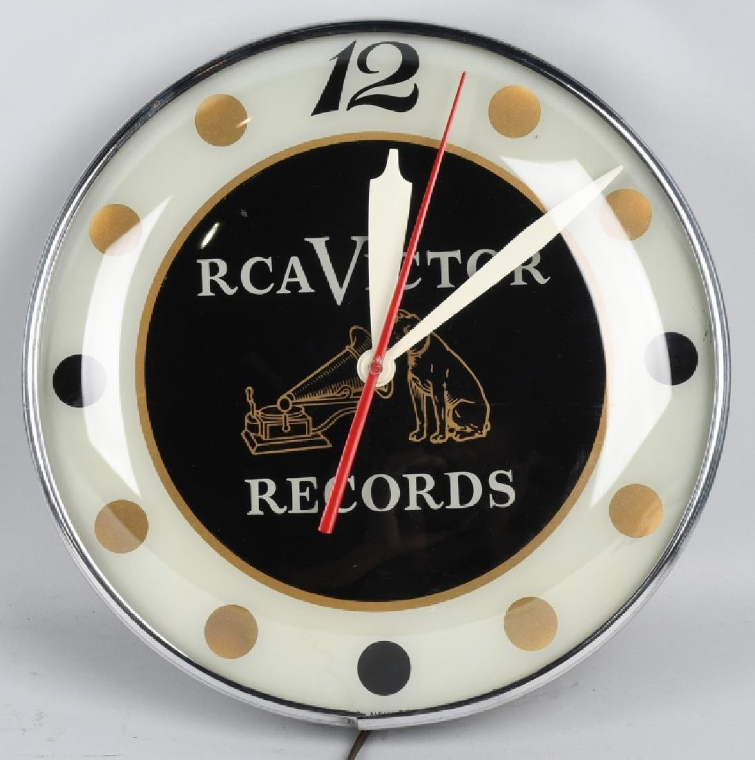 "15"" RCA VICTOR RECORDS PAM CLOCK"