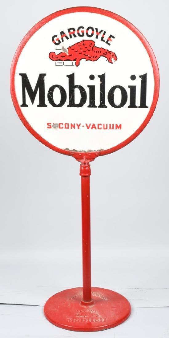 GARGOYLE MOBILOIL DS LOLLY POP SIGN