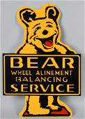 "25 1/2"" BEAR WHEEL ALIGNMENT TIN SIGN"