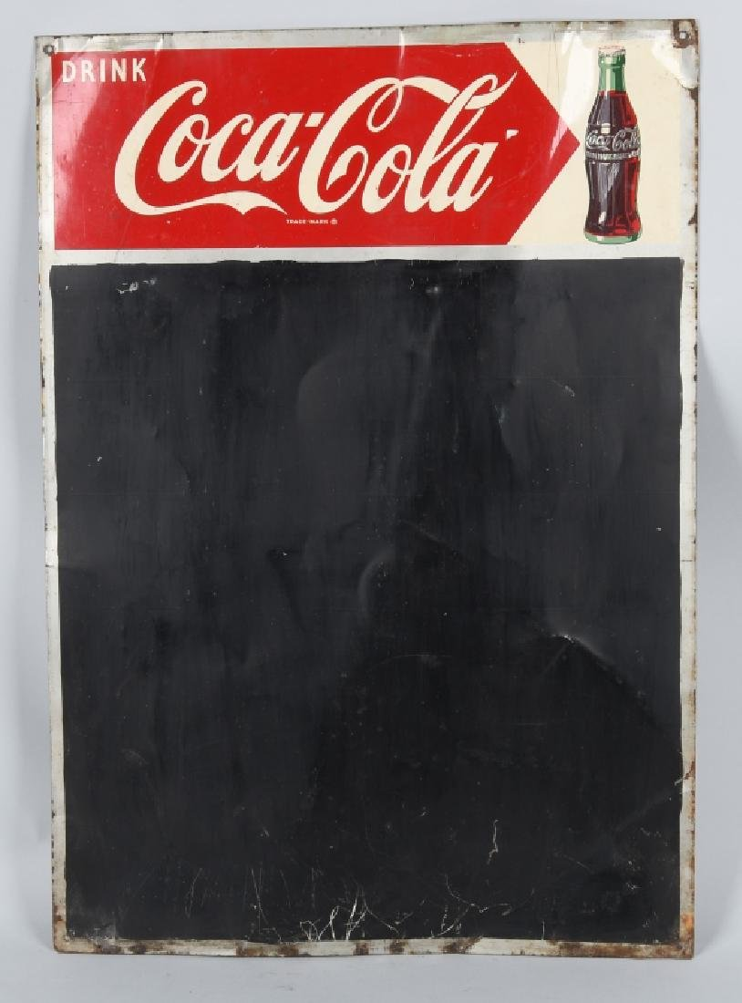 DRINK COCA COLA TIN CHALKBOARD SIGN