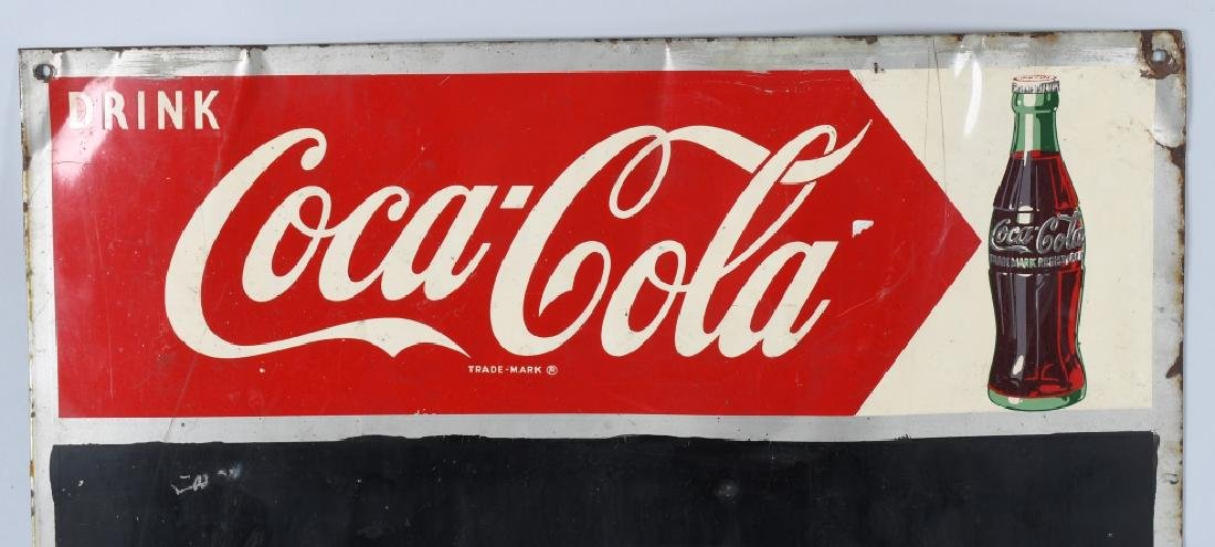 DRINK COCA COLA TIN CHALKBOARD SIGN - 2