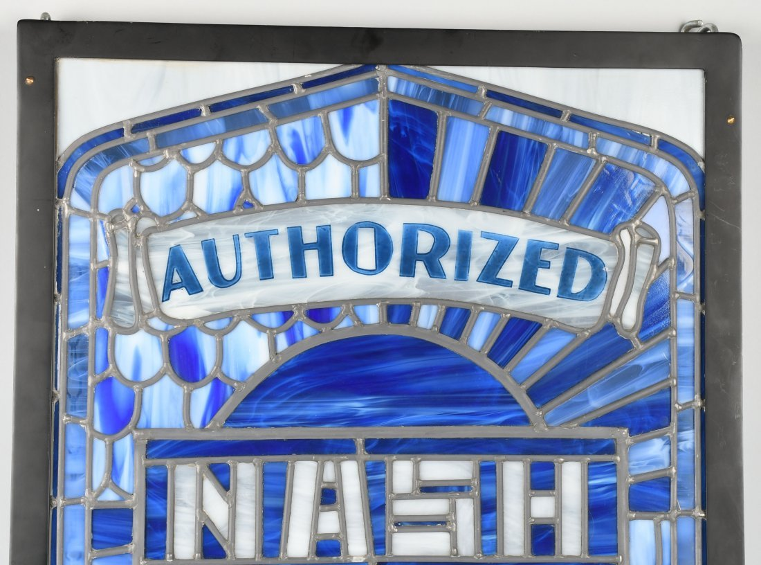 NASH AUTHORIZED SERVICE STAINED GLASS WINDOW - 2
