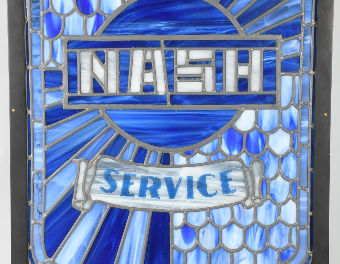 NASH AUTHORIZED SERVICE STAINED GLASS WINDOW - 3