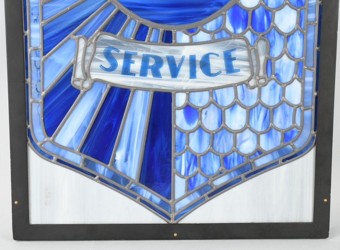 NASH AUTHORIZED SERVICE STAINED GLASS WINDOW - 4