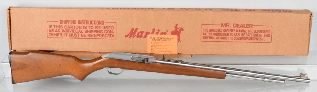 MARLIN STAINLESS MODEL 60, .22 RIFLE, BOXED