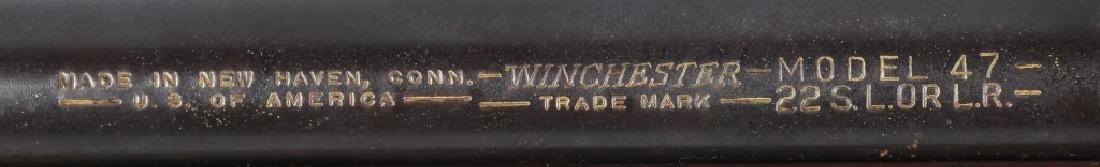WINCHESTER MODEL 47, .22 BOLT RIFLE - 9