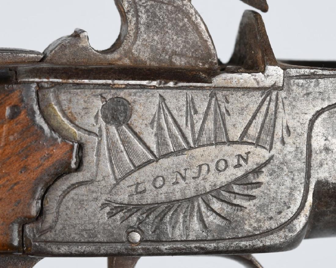 18th CENT. BRITISH .45 FLINTLOCK PISTOL - 3