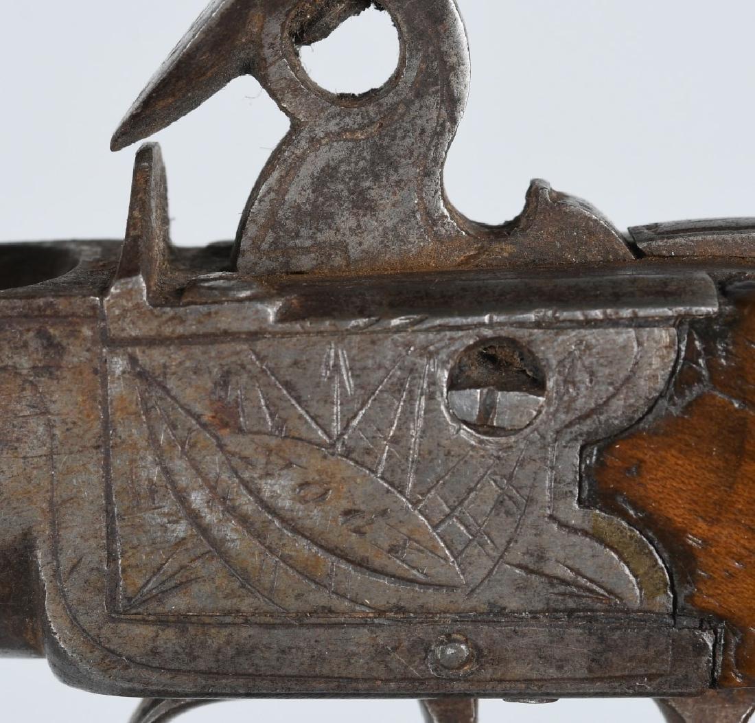 18th CENT. BRITISH .45 FLINTLOCK PISTOL - 4