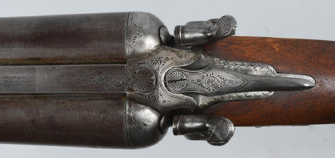ANTIQUE MANHATTAN ARMS SxS 12 GA. SHOTGUN - 10
