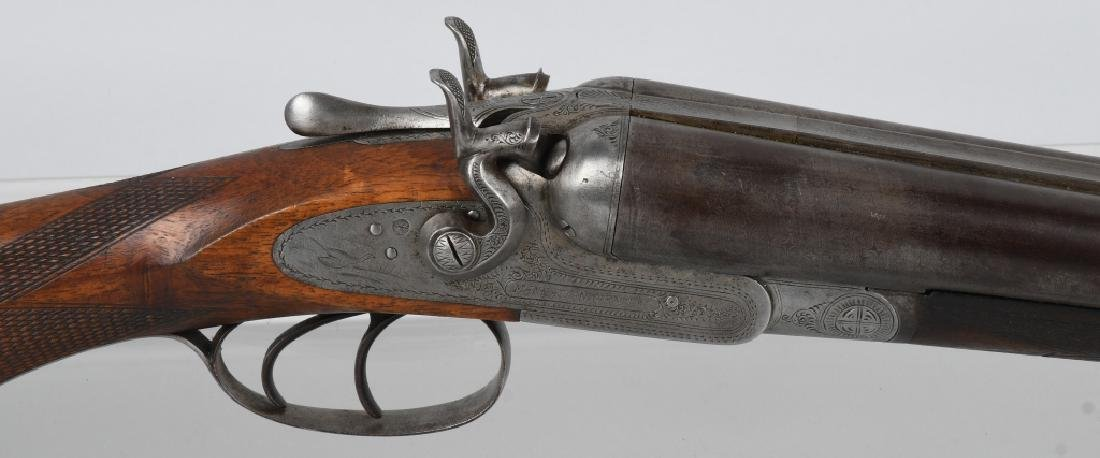 ANTIQUE MANHATTAN ARMS SxS 12 GA. SHOTGUN - 2