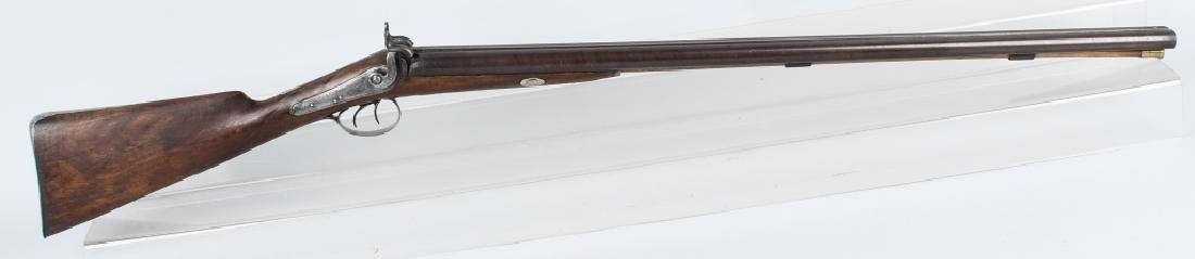 J. MANTON LONDON SxS 12 GA. PERCUSSION SHOTGUN