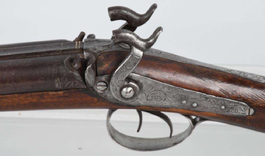 J. MANTON LONDON SxS 12 GA. PERCUSSION SHOTGUN - 6