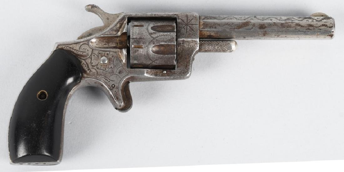 ANTIQUE HOOD FA CO. .22 ENGRAVED REVOLVER