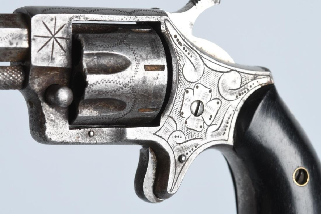 ANTIQUE HOOD FA CO. .22 ENGRAVED REVOLVER - 3