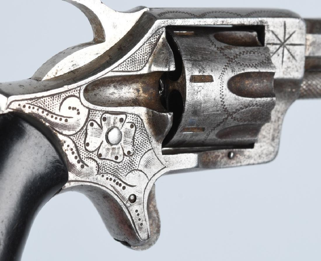 ANTIQUE HOOD FA CO. .22 ENGRAVED REVOLVER - 4
