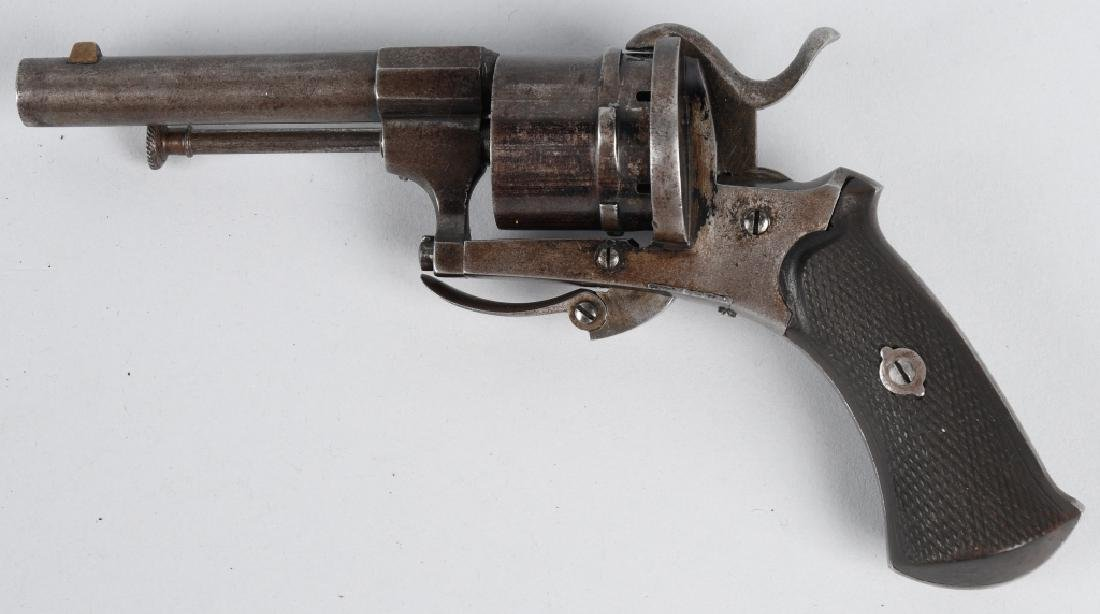 ANTIQUE LeFAUCHEUX TYPE 7mm PIN FIRE w/ CASE - 3